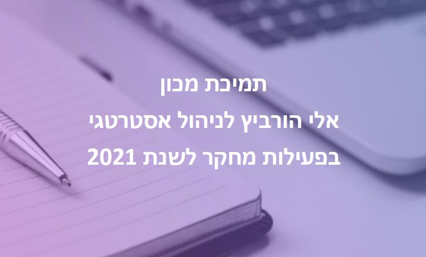 תמיכת המכון בפכילות מחקר בשנת 2021