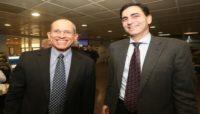 משה צבירן ועמיתו בכנס המהלך האסטרטגי ה20