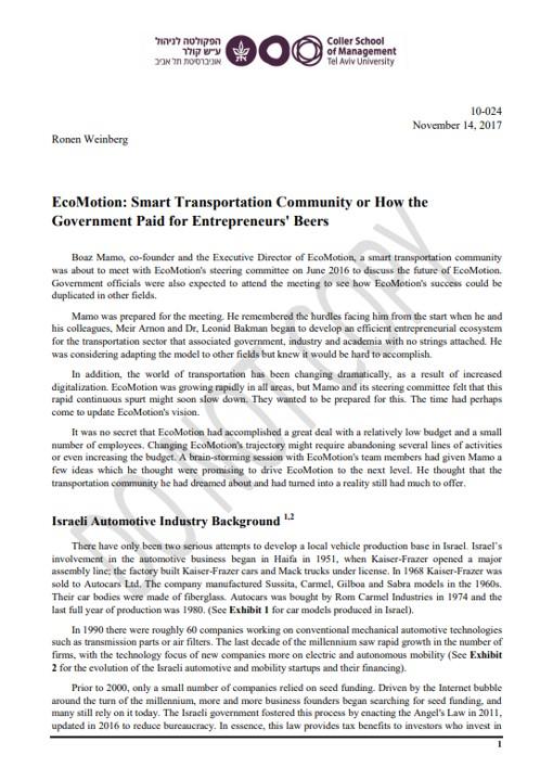 מאמר EcoMotion 2017
